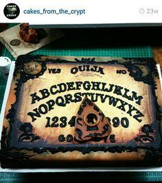 Ouija board birthday cake