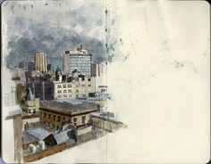 Urban Sketching meet up by Wil Freeborn, via Flickr