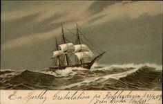 Sailboat on Rough Seas