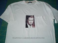 Camisetas bordadas y broches