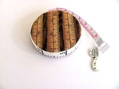 Tape Measure in Browns Retractable Measuring Tape by AllAboutTheButtons, $8.50 USD