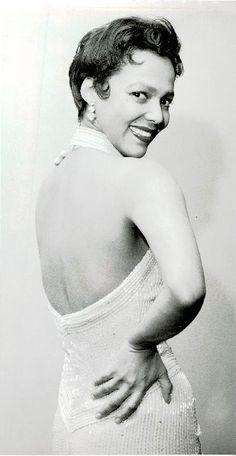 Dorothy Dandridge, the international singing beauty.