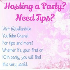 Need Poshmark Party tips? Visit @bellanblue 's YouTube's channel for party tips & more Other
