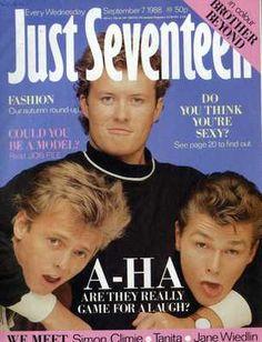 JUST SEVENTEEN MAGAZINE 7/9/1988 BROTHER BEYOND, TANITA, JANE WIEDLIN