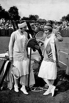 Suzanne Lenglen - Bobbins and Bombshells: Fashionable History: Tennis, Anyone?