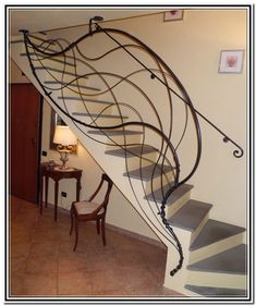 Modern Indoor Stair Railing Kits Systems For Your Inspiration 36 Stair Railing Ideas Indoor Inspiration Kits modern railing stair systems Indoor Stair Railing, Stair Railing Kits, Wrought Iron Stair Railing, Stair Railing Design, Home Stairs Design, Stair Handrail, Railing Ideas, Modern Railing, House Stairs