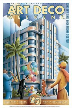Miami Beach: Art Deco Miami South Beach >> See the Deals! Miami Art Deco, Poster Art, Kunst Poster, Art Deco Posters, Art Deco Illustration, Art Nouveau, Colores Art Deco, Pinturas Art Deco, Vintage Art