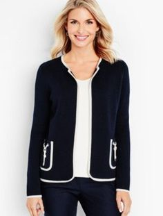 Talbots - Tie-Pocket Sweater Jacket     Discover your new look at Talbots. Shop our Tie-Pocket Sweater Jacket for stylish clothing and accessories with a modern twist at Talbots