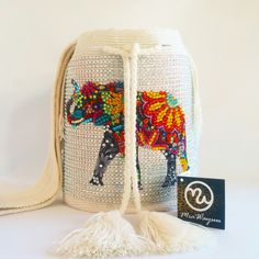 Wayuu Mochila bag elephant bead