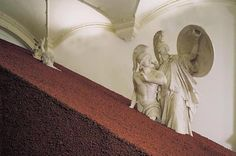 <p>Domestication of Pyramids by Magdalena Jetelová are pyramid-sculptures installation, covered by volcanic ashes, and have been shown at the Museum of Applied Arts / Vienna, Martin-Gropius-Bau / Berl