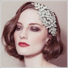 Hattie statement diamante bridal headband rhinestone wedding headdress on ribbon. | by Debbie Carlisle www.dcbouquets.co.uk