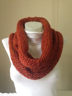Chunky Knitted ScarfChristmas IdeasWinter by Yellowcrochet on Etsy