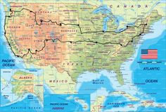 I want to take a laid back road trip across the US and stop anywhere that looks interesting.