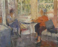 Barbara painting Judy (versión libre)_Óleo sobre tela, 64X53 cm. = No disponible_ Not available =Inspirado en una foto de Zoraida (en la reunión de JKPP de Barcelona): www.flickr.com/photos/arsaytoma-zoraida/5897389509/in/fav...