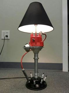 Lamp from engine parts More