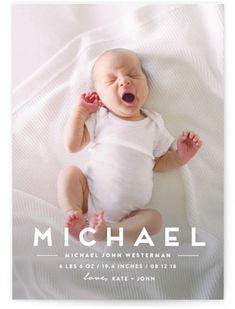 Baby Boy Birth Announcement, Boy Birth Announcements, Minimalist Baby, Baby Girl Photos, Newborn Photos, Baby Pictures, Baby Birth, Baby Baby, Baby Cards
