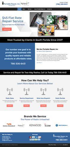 Custom #Website for Portable Repair, Inc -- small business in Miramar, FL