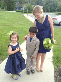 jcrew bridesmaid and ring bearer/ flowergirl dress