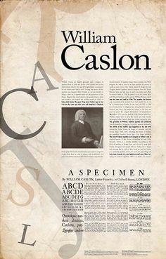 Caslon foi uma das primeiras fontes sem serifas. as letras sem serifas apareceram por uma questão económica relacionada com a sua produção e com a durabilidade dos caracteres. A mesma pressão aplicada em tipos que possuam serifas finas torna-os mais frágeis do que os sans serif.