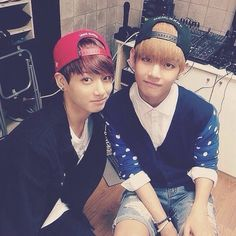 kookie and v, american hustle life!! absolutely love the american hustle life series!!  (>v <)/♡♡♡♡♡♡♡♡<3 <3 <3 <3