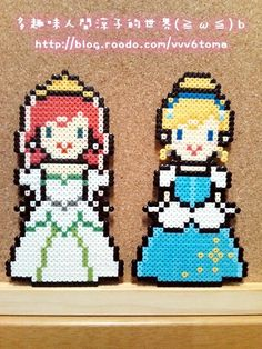 Ariel - Cinderella - Disney hama perler beads by Ryoko