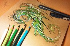 Nature dragon. #fantasy #dragon #art #pencil #drawing #alviaalcedo on @DeviantArt