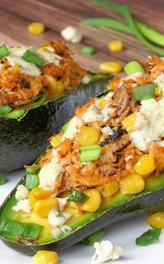 Chicken Stuffed Avocado Recipe