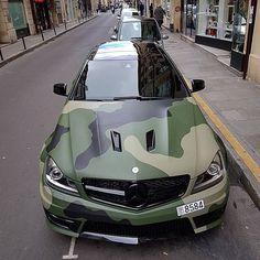 Mercedes C63 AMG Camo