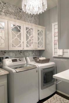 Blog Laundry Closet, Laundry Rooms, Laundry Room Curtains, Laundry Room Inspiration, Bedroom Inspiration, Interior Inspiration, Barn Door Designs, Diy Home Decor, Room Decor