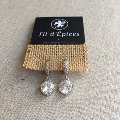 Boucles d'oreilles Princesse Palladium, Or Rose, Wedding Jewelry, Belly Button Rings, Diamond Earrings, Round Pendant, Princess Bride Marriage, Belly Button Piercing, Bridal Jewelry