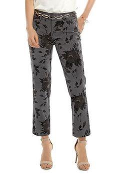 A patterned pant is a subtle statement piece.