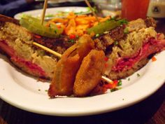 The Reuben at Native Foods ~ 100% Vegan! They have awesome free vegan cooking classes too! <3
