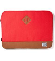 """Herschel Supply Co. Red Heritage 15"""" Macbook Sleeve via hypebeast store"""