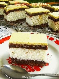 Romanian Desserts, Romanian Food, My Recipes, Cake Recipes, Different Cakes, Food Cakes, Chocolate Ganache, Easy Desserts, Coco