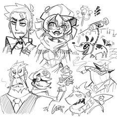 "Gerph ☕️ en Twitter: ""Some random characters… "" Female Character Design, Character Design References, Character Design Inspiration, Character Art, Art Folder, Writing Art, Anime Drawings Sketches, Fashion Design Drawings, Cyberpunk Art"