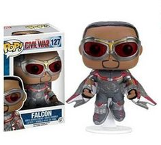 Sam Wilson (Falcon) Captain America: Civil War Funko Pop figure FINALLY!!!!!! (he's exclusive to Hot Topic and releasing soon!)