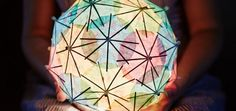 DIY Upcycled Cocktail Umbrella Lamp from Green Moxie