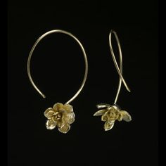 cute flower gold earrings