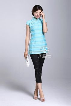 Ms. Tang suits summer Ethnic Women's Clothing Improved Tang suits Chinese cheongsam blouse tops middle-aged momtpqtvrsslok from English Agent:BuyChina.com