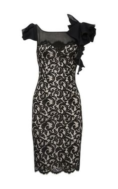 Karen Millen Lace Dress DJ019 Product details: * Fitted french lace pencil dress with sheer silk georgette yoke to front, trimmed with draped waterfall detail on shoulders. * Material: 20% Nylon,80% Viscose * Color: Show as pictures Free shipping and fast delivery to all over the world.