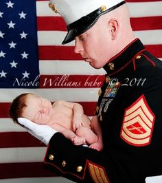 Even though when we have a child Ryan will be out of the Marines. I still want a picture like this.. so precious!