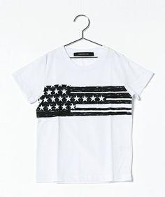 VENCEEXCHANGE MENS(ヴァンスエクスチェンジ メンズ)の星条旗プリント半袖Tシャツ(Tシャツ/カットソー)|オフホワイト