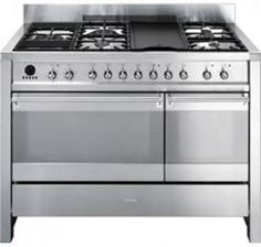 double oven gas range grill - Google Search