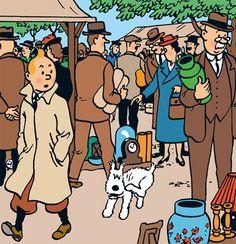 Flea Market - The Secret of the Unicorn • Tintin, Herge j'aime