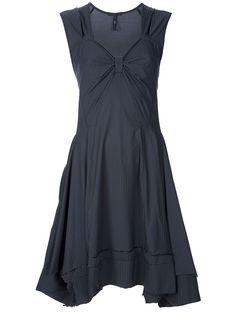 HIGH 'POSEY' DRESS Tonal Tuxedo Pinstripe details