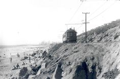 A Pacific Electric trolley rolls down Redondo Beach in Courtesy of the Metro Transportation Library and Archive. Redondo Beach Pier, Redondo Beach California, California Coast, Southern California, Vintage California, Cities In Los Angeles, San Bernardino County, Riverside County, Los Angeles County