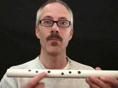 ▶ How To Make Your Own PVC Flute - Part 1 - YouTube.  This is for a recorder type flute, but he provides good websites.  Flautomat for determining finger hole placement. Michigan tech website for frequency chart to change scale from major to minor.