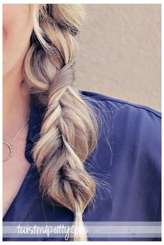 "The Alternative Braid - so great for the ""awkward-growing-my-layers"" stage. I think I'm going to try this one! So cool!!"