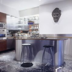 Blue Modern Kitchen