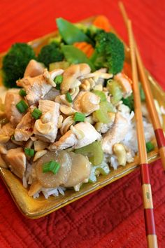 A lighter version of the classic Cashew Chicken #recipe
